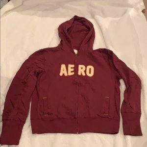 Aeropostale hooded zip-up sweatshirt